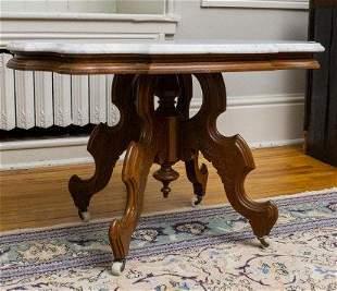 Victorian Walnut Center Table