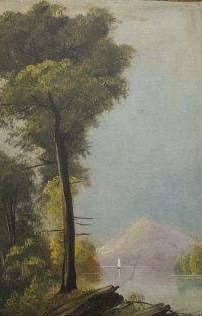 Romantic Style, Oil on Board, Landscape, C. 1870