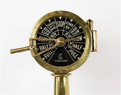 British Brass Ship's Engine Order Telegraph