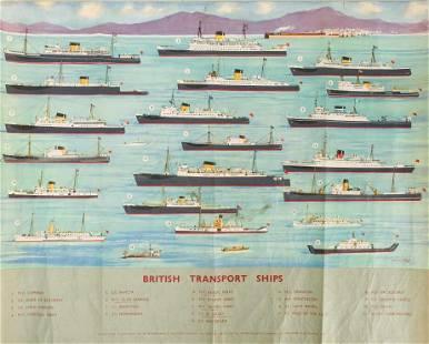 Large Poster of British Ships