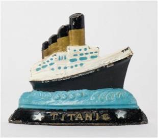 Antique Titanic Door Stop