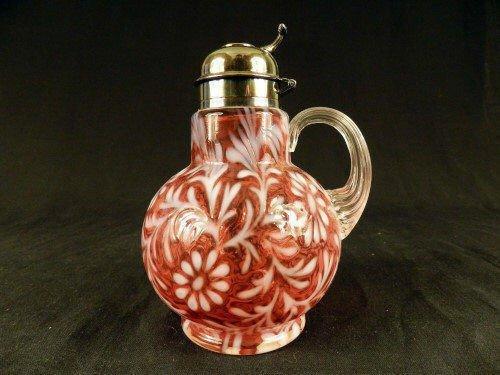 Victorian Cranberry Opalescent Art Glass