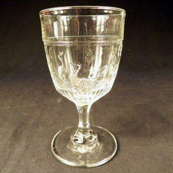 E.A.P.G. Pressed Glass Goblet