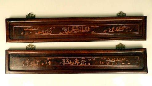 Decorative wooden Asian panels