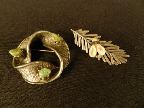 Sterling Silver Scottish brooches