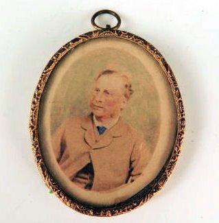 Miniature photograph & brass frame