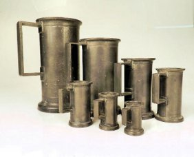 Continental 7 Pewter Measures