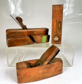 Wooden Tools 1 Level & 2 Planes