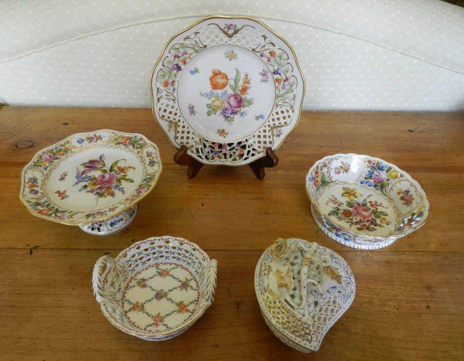 Continental porcelain / Porcelaine continentale