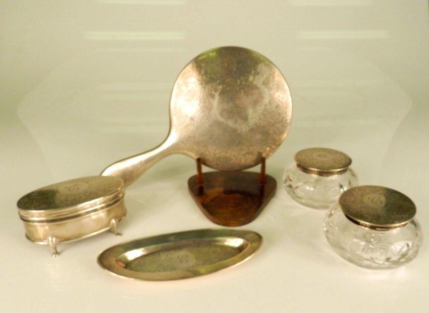 Mappin & Webb sterling silver set