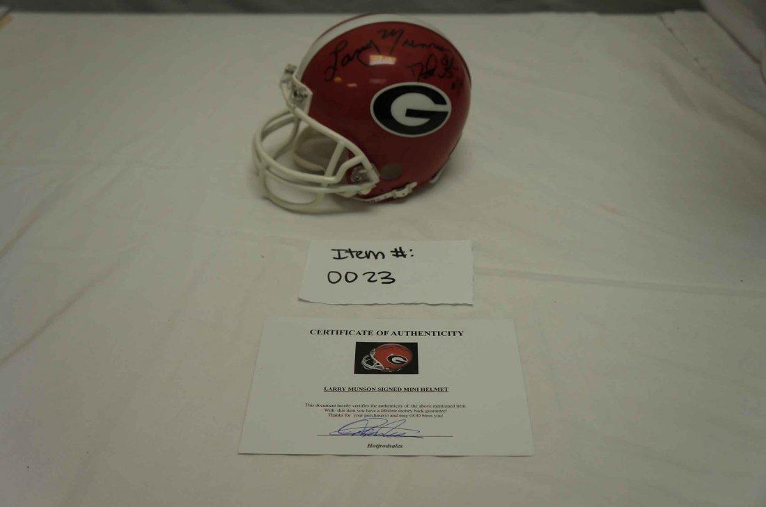 David Green/ Larry Munson Autographed Helmet
