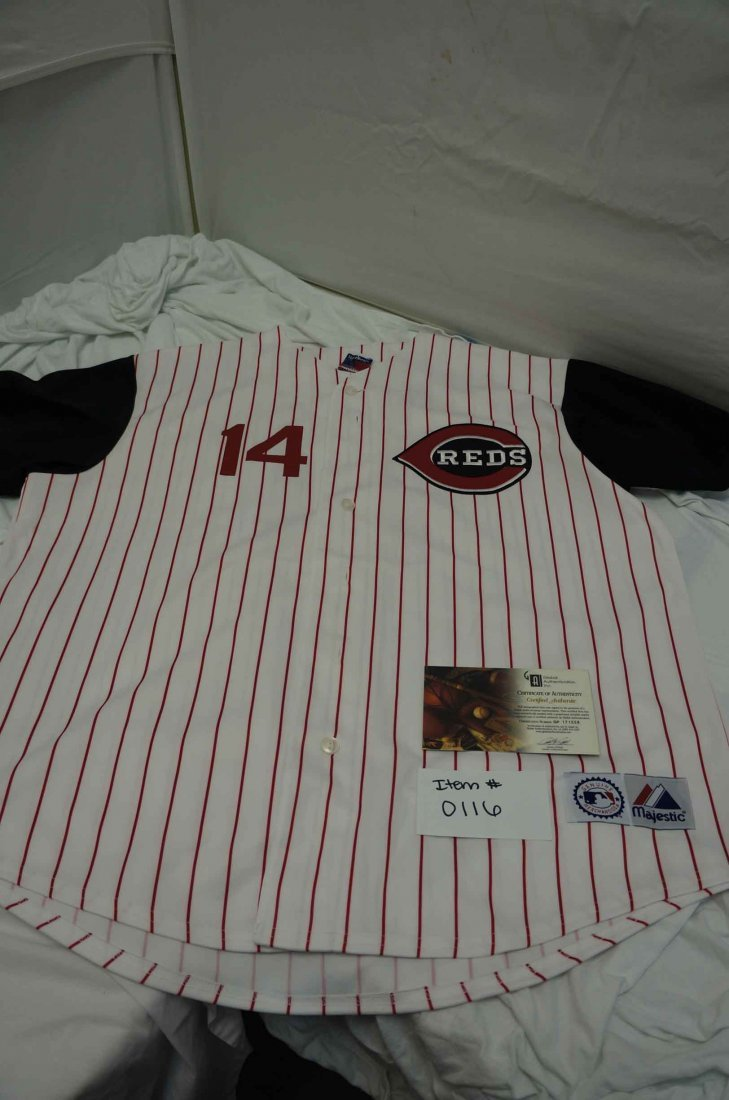 Pete Rose Signed Reds Jersey COA