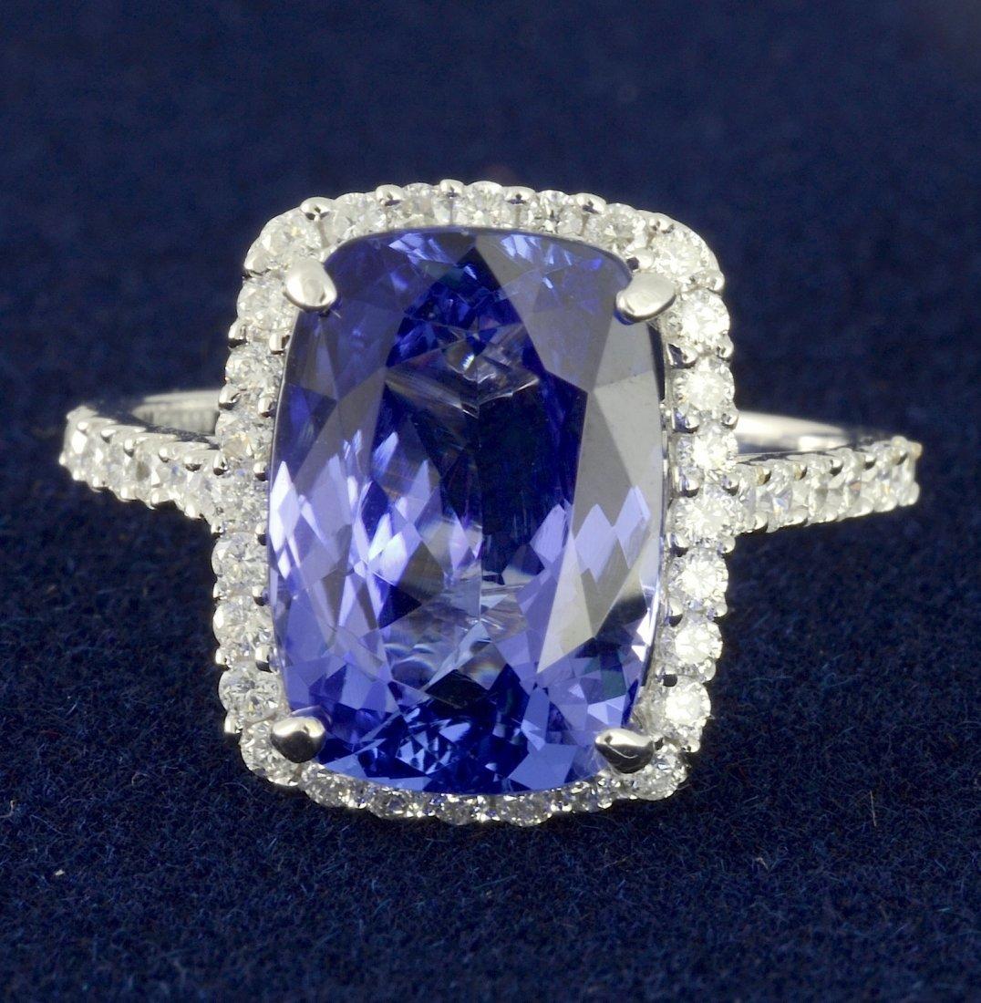 Tanzanite & Diamond Ring Appraised Value: $12,485