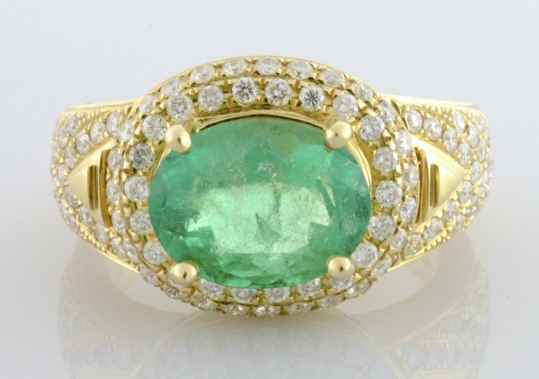Emerald & Diamond Ring Appraised Value: $12,300