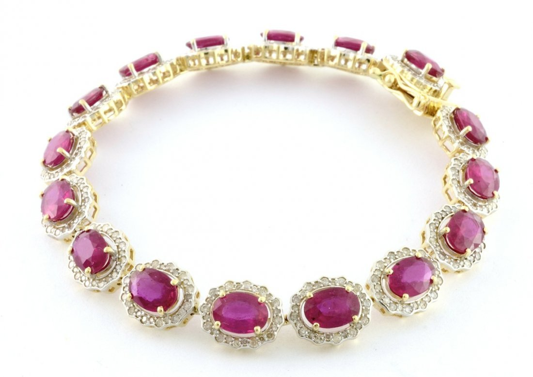 Ruby & Diamond Bracelet Appraised Value: $9,760