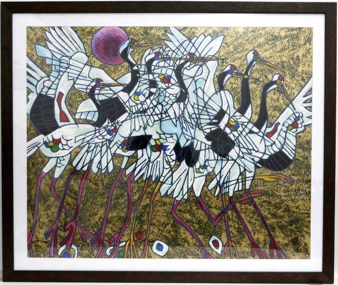 """Jiang Tie Feng's """"Rythem"""" Art (FRAMED)"""