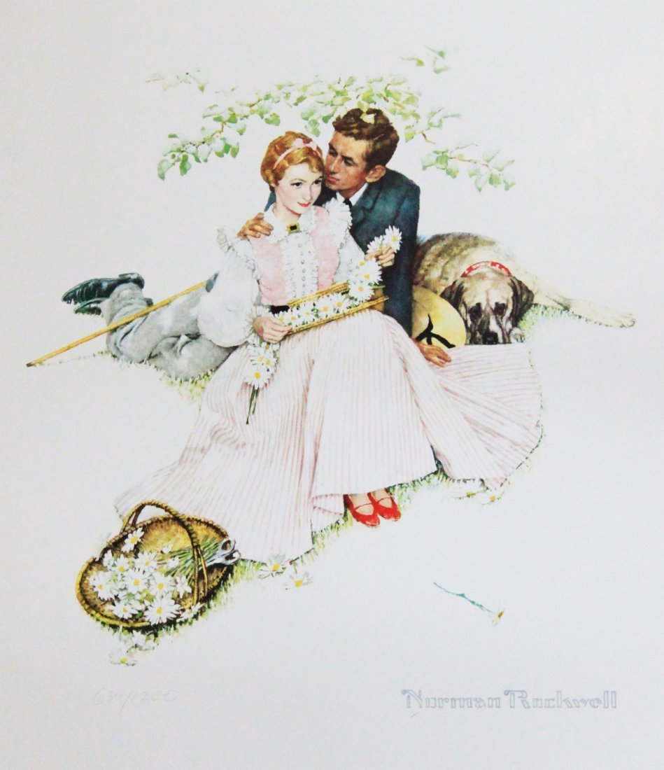 """Norman Rockwell's """"Four Ages of Love: Flowers in Tender"""