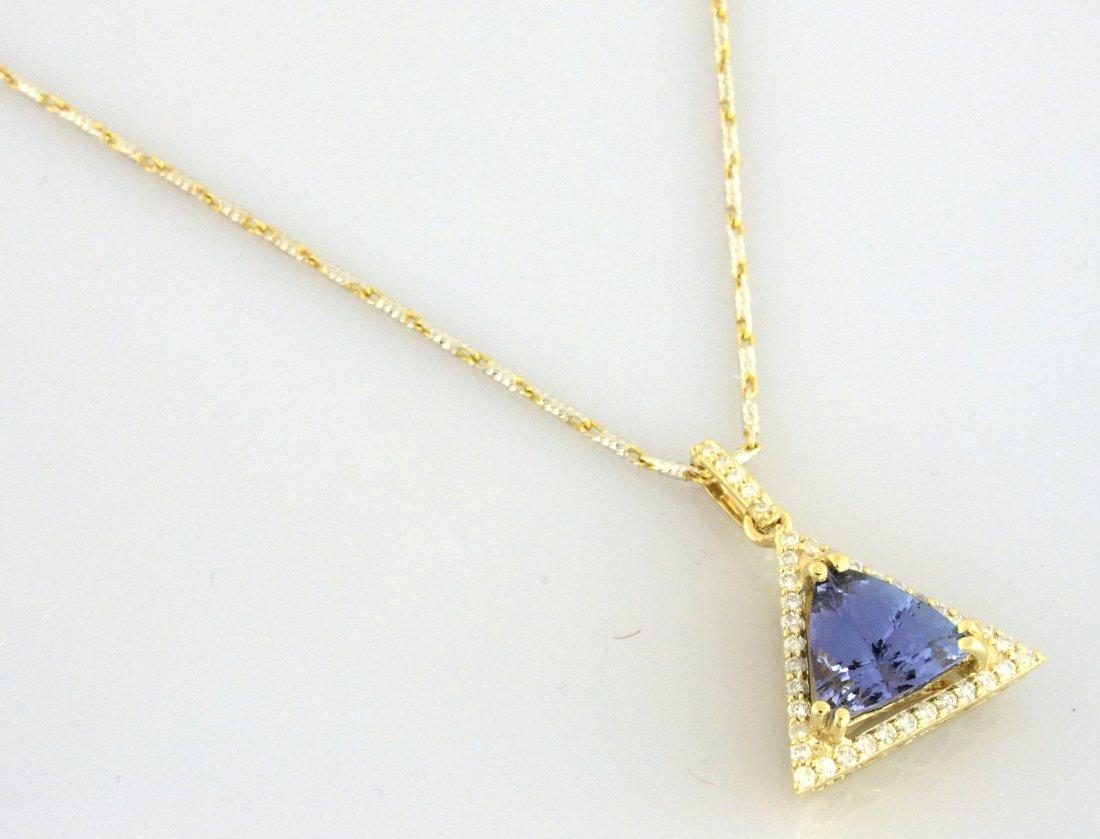 Tanzanite & Diamond Necklace AV: $2,505