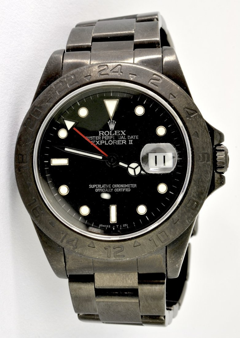 Rolex Explorer II S/S Black Wristwatch