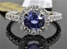 Color Change Sapphire  Diamond Ring AV 11335