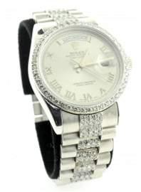 Genuine PLATINUM Presidential Rolex Watch w/ Diamonds