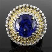 Tanzanite & Diamond Ring Appraised Value: $39,300