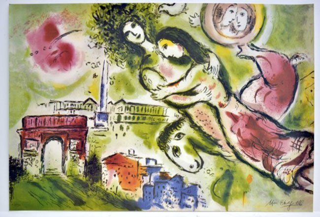 Image result for chagall romeo and juliet image
