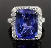 Tanzanite & Diamond Ring (GIA CERTIFIED) AV: $20,188