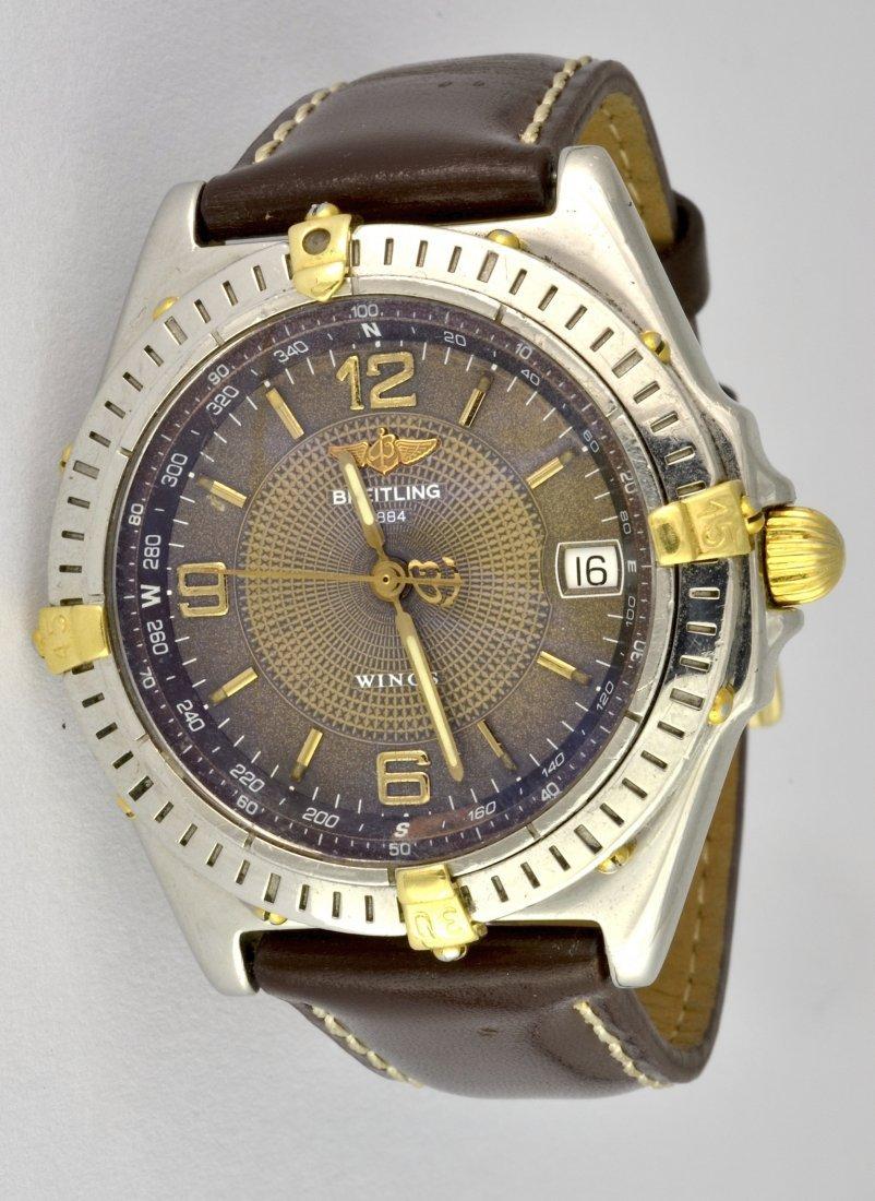 Breitling Wings 18K/SS Mens Wristwatch