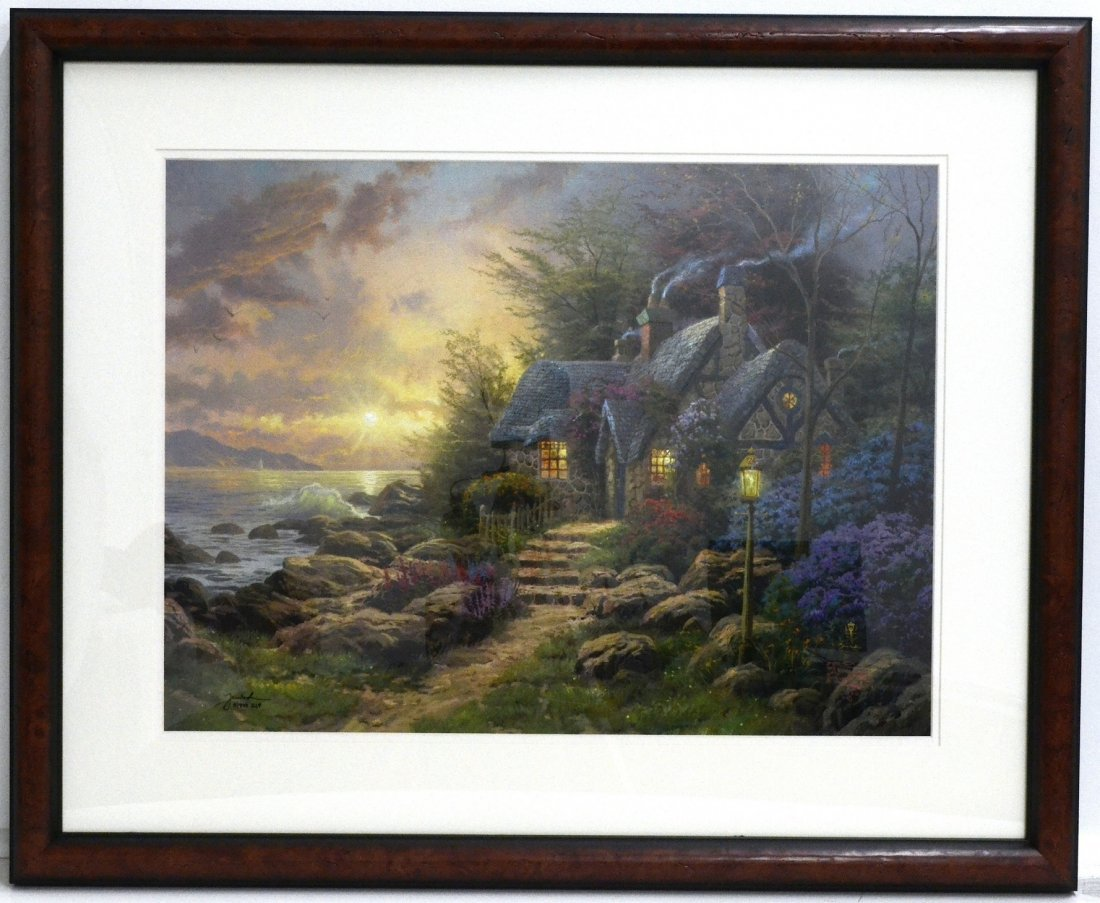 "Thomas Kinkade's ""Seaside Hideaway"" Art Print (FRAMED)"