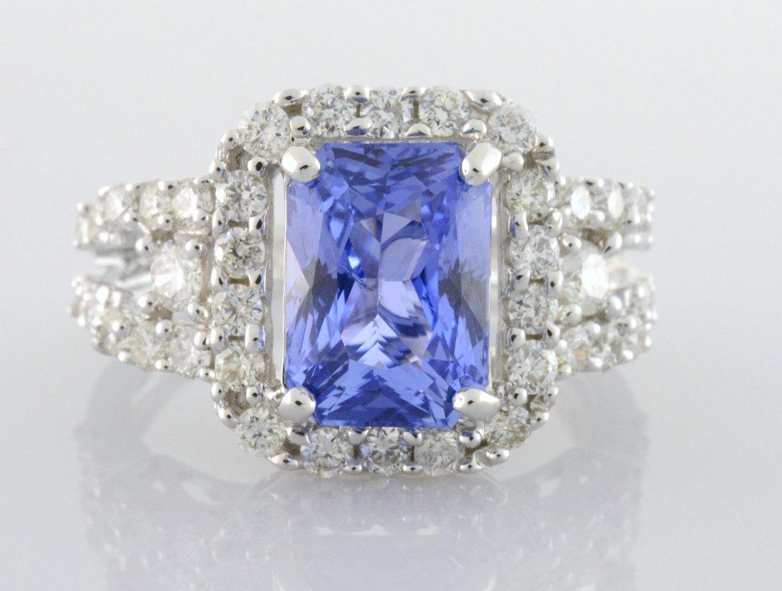 Sapphire & Diamond Ring (GIA CERTIFIED) AV: $38,545
