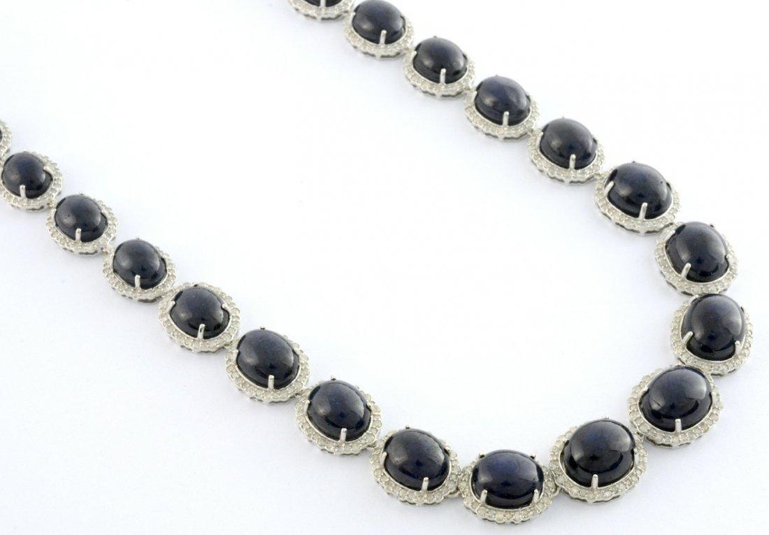 Star Sapphire & Diamond Necklace AV: $37,930