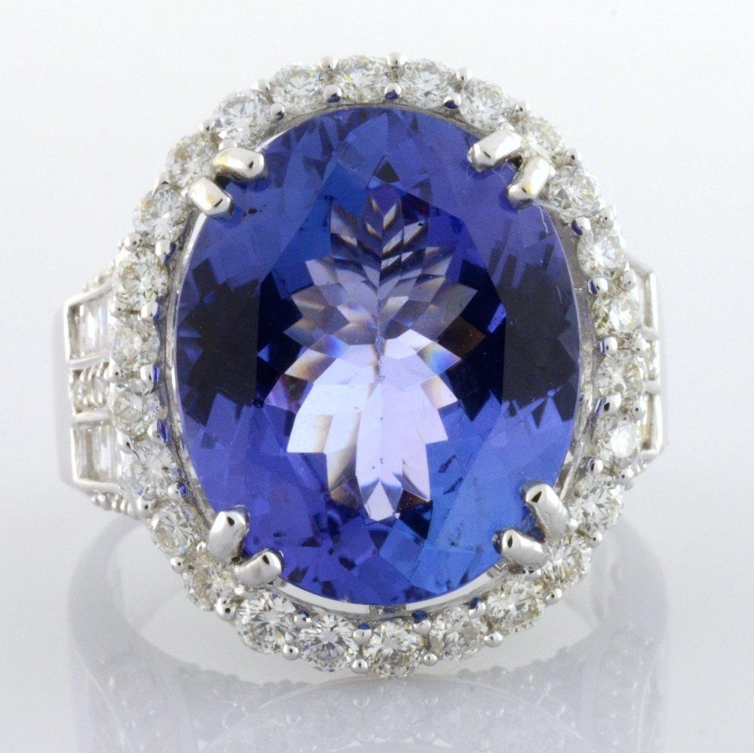 Tanzanite & Diamond Ring Appraised Value: $20,900