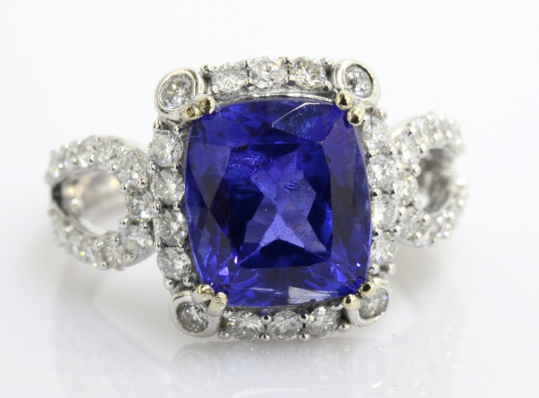 Tanzanite & Diamond Ring Appraised Value: $8,890