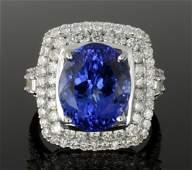 6.37 ct Tanzanite & Diamond Ring (GIA CERTIFIED) AV: