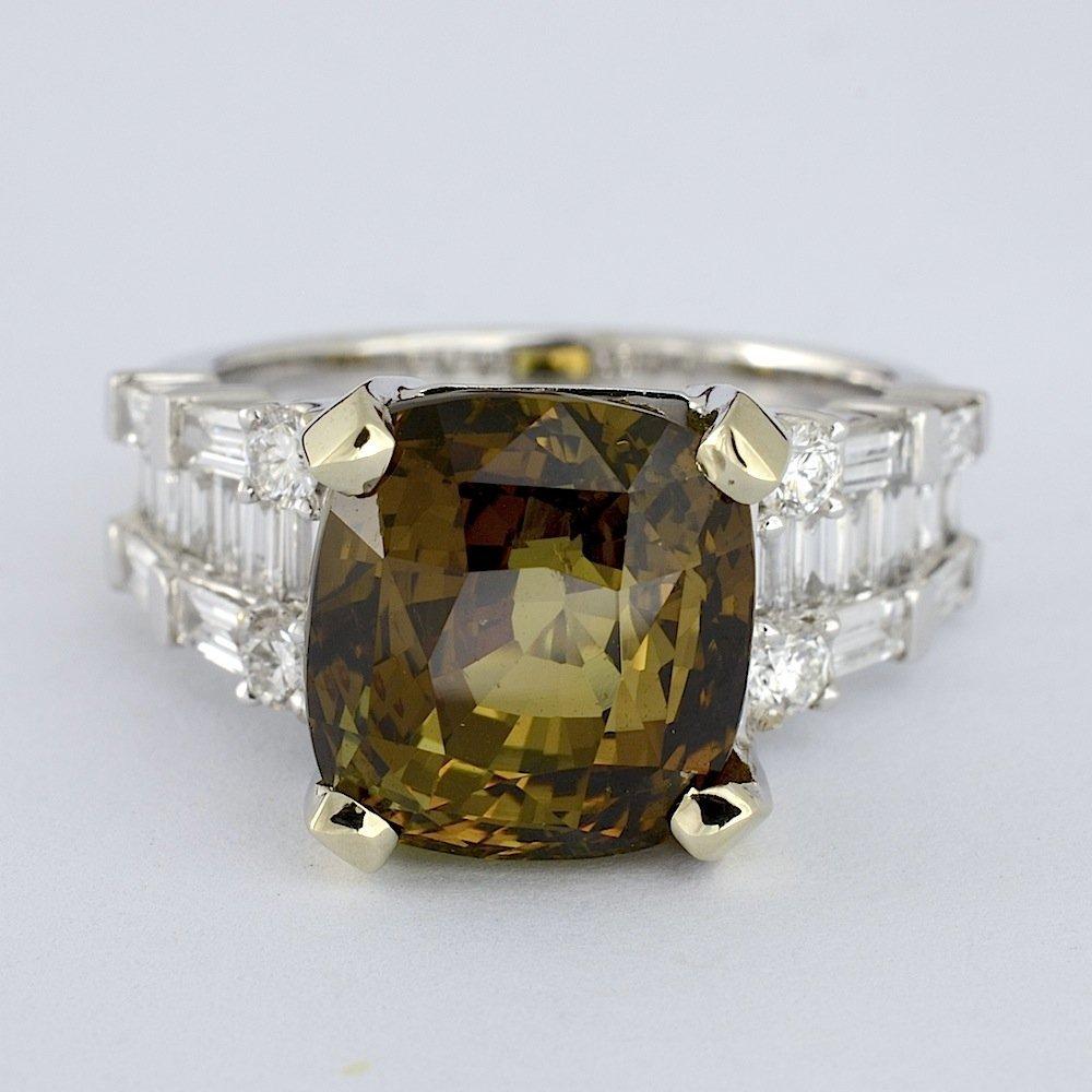 Alexandrite & Diamond Ring (GIA CERT.) AV: $47,480