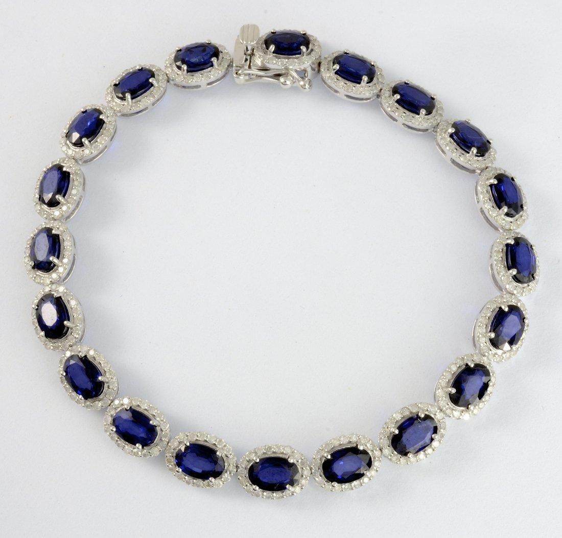 Sapphire & Diamond Bracelet AV: $9,920