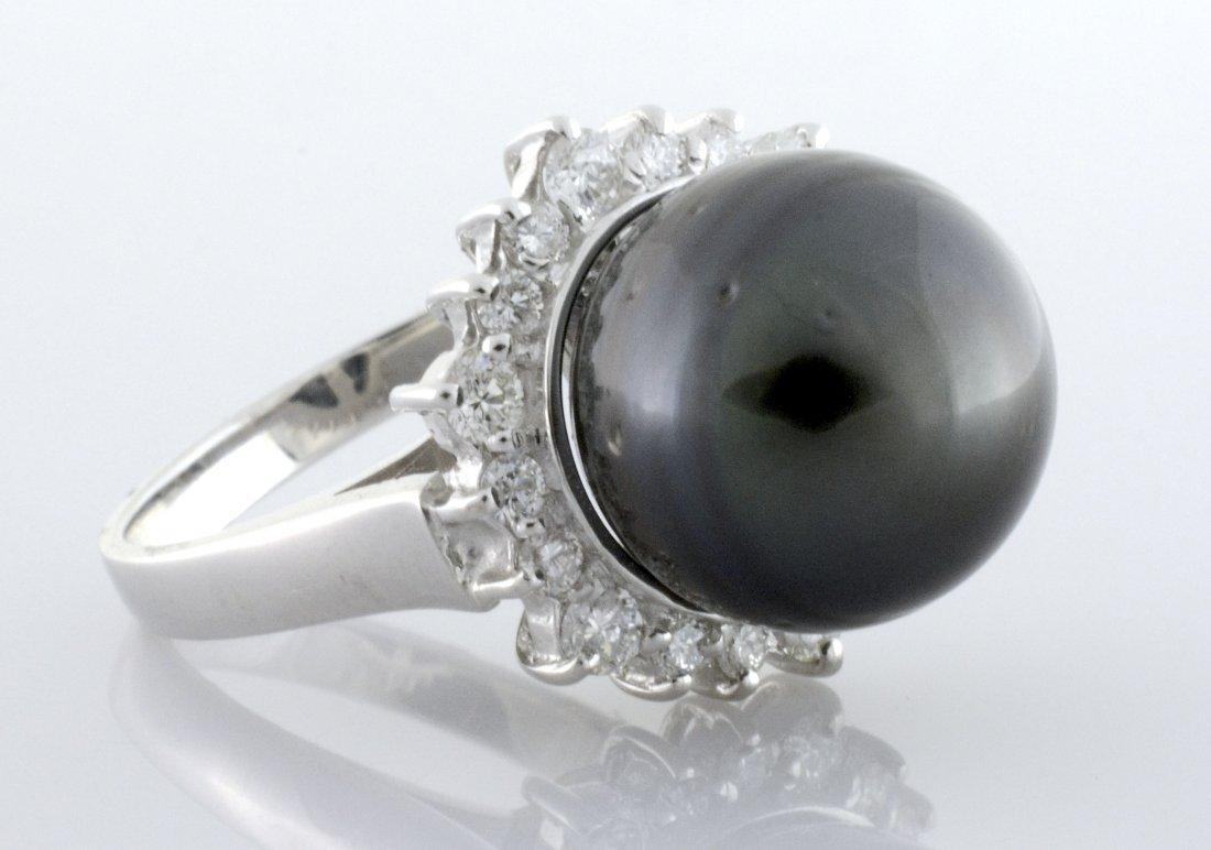 Tahitian Pearl & Diamond Ring AV: $4,125