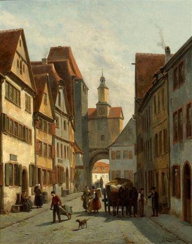 4: Jacques CARABAIN (1834-1933), Belgian Cityscape Oil