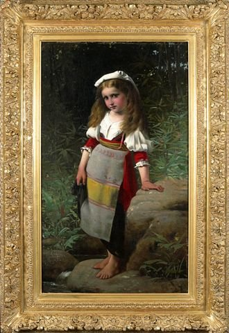 10: Charles-Victor THIRION (1833-1978) Young Girl on th