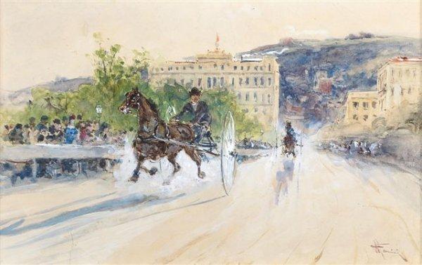 12: Franceso MANCINI (1830-1905), Italian The Race Wate