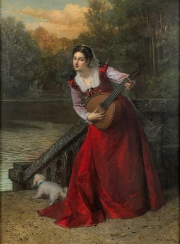 13: Pierre-Charles COMTE (1823-1895)  The musician Oil