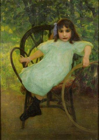 17: Juan SALA GABRIEL (1867-1918) Young Girl with Hoop
