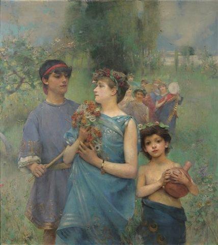 20: Henry Siddons MOWBRAY (1858-1928),  Springtime Oil