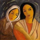 Victor MANUEL (1897-1969), Cuban  Portrait of Two