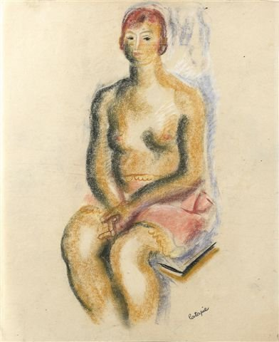 1004: Louis LATAPIE (1891-1972) French  - Femme nue all