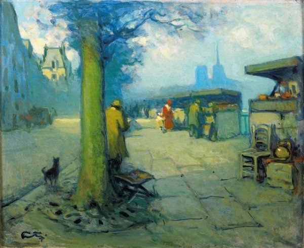 1007: Louis FORTUNEY (1878-1950) French  Paris  les bou
