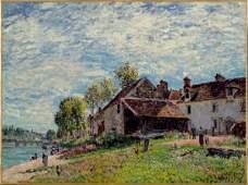 158: Alfred SISLEY (1839-1899)  Saint Mamm�s  avant l �