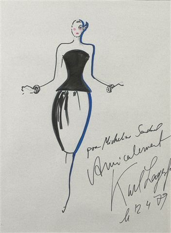 231: Karl LAGERFELD (né en 1938)      Silhouette  Marke