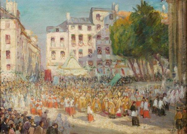 7: Élie-Anatole PAVIL (1873-1948), Russian Le 15 Août à